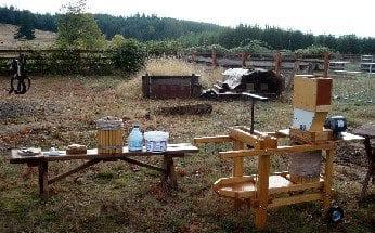 cider press equipment at the Farm