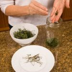 Prepare your herbs for Herbal Vinegar