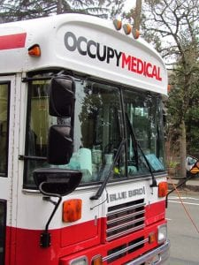 Occupy Medical Mobile Clinic - photo by David Sierralupe