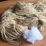 Wool Dyed with Fennel using Alum Mordant.