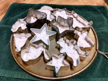 seed paper ornament in cookie cutters