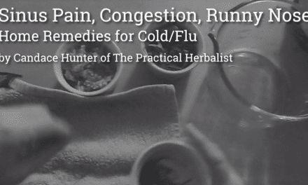 Sinus Pain, Congestion, Runny Nose: Natural Remedies for Cold/Flu